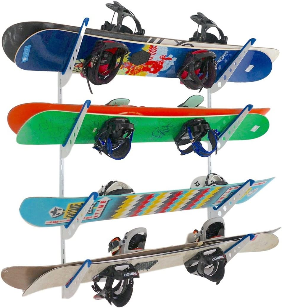 StoreYourBoard Snowboard Multi Wall Storage Rack, Home and Garage Mount
