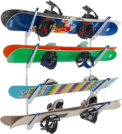 Plastic Snowboard Storage Rack Adjustable Home Wall Mount