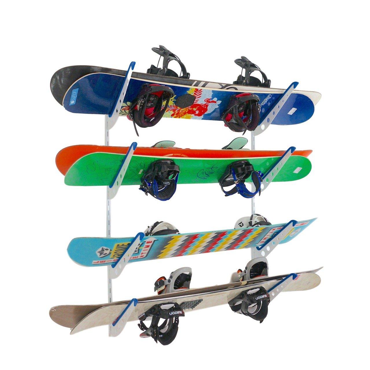 StoreYourBoard Snowboard Multi Wall Storage Rack | Home and Garage Mount