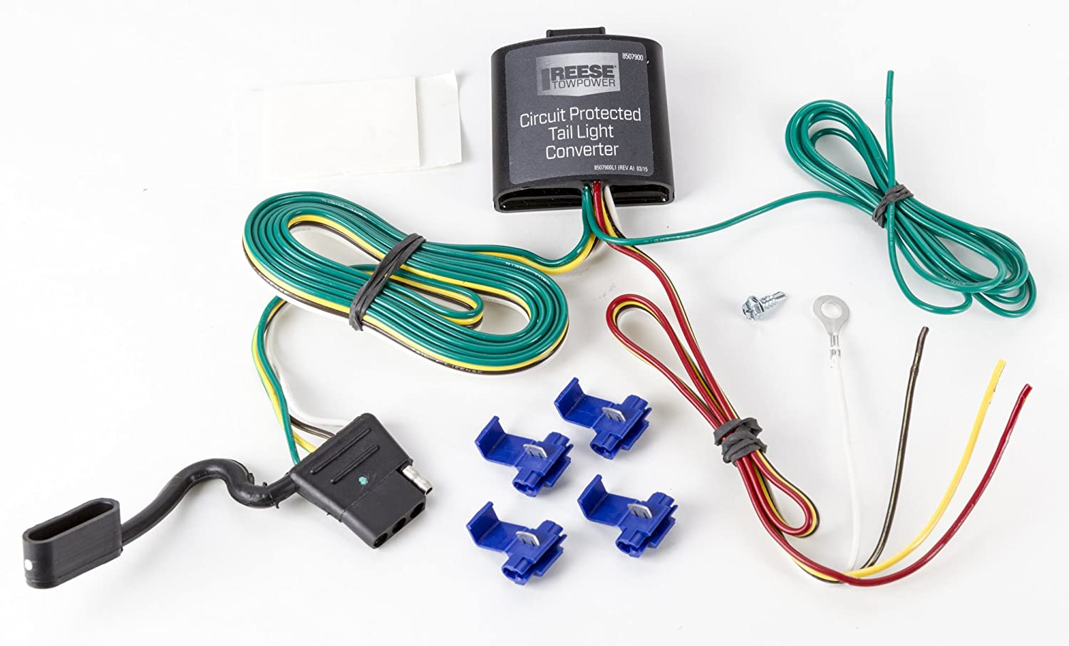 Reese Towpower 8507900 Circuit Protected Tail Light Home Wiring Converter Automotive