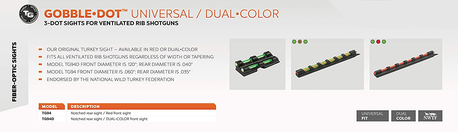 Truglo Gobble-Dot Sight Red//Green by Truglo Universal