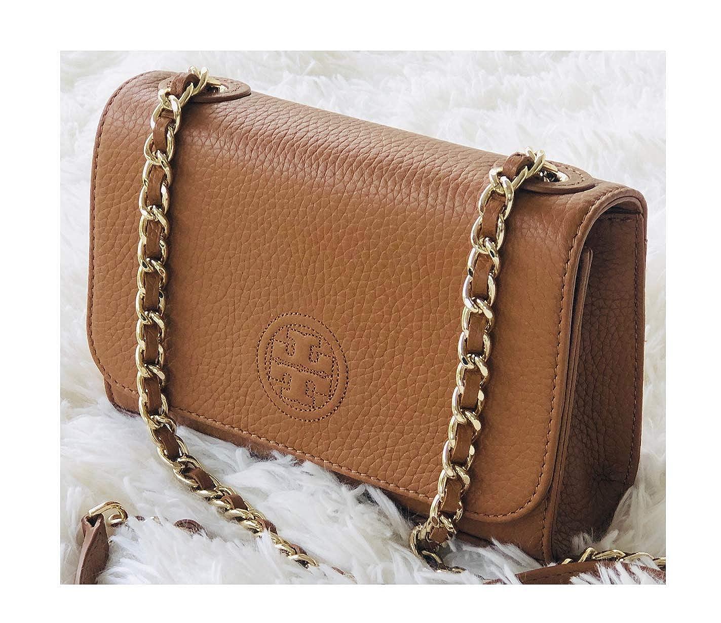 dddba5a935f Tory Burch Bombe Shrunken Shoulder Bag Women's Handbag Brown: Handbags:  Amazon.com