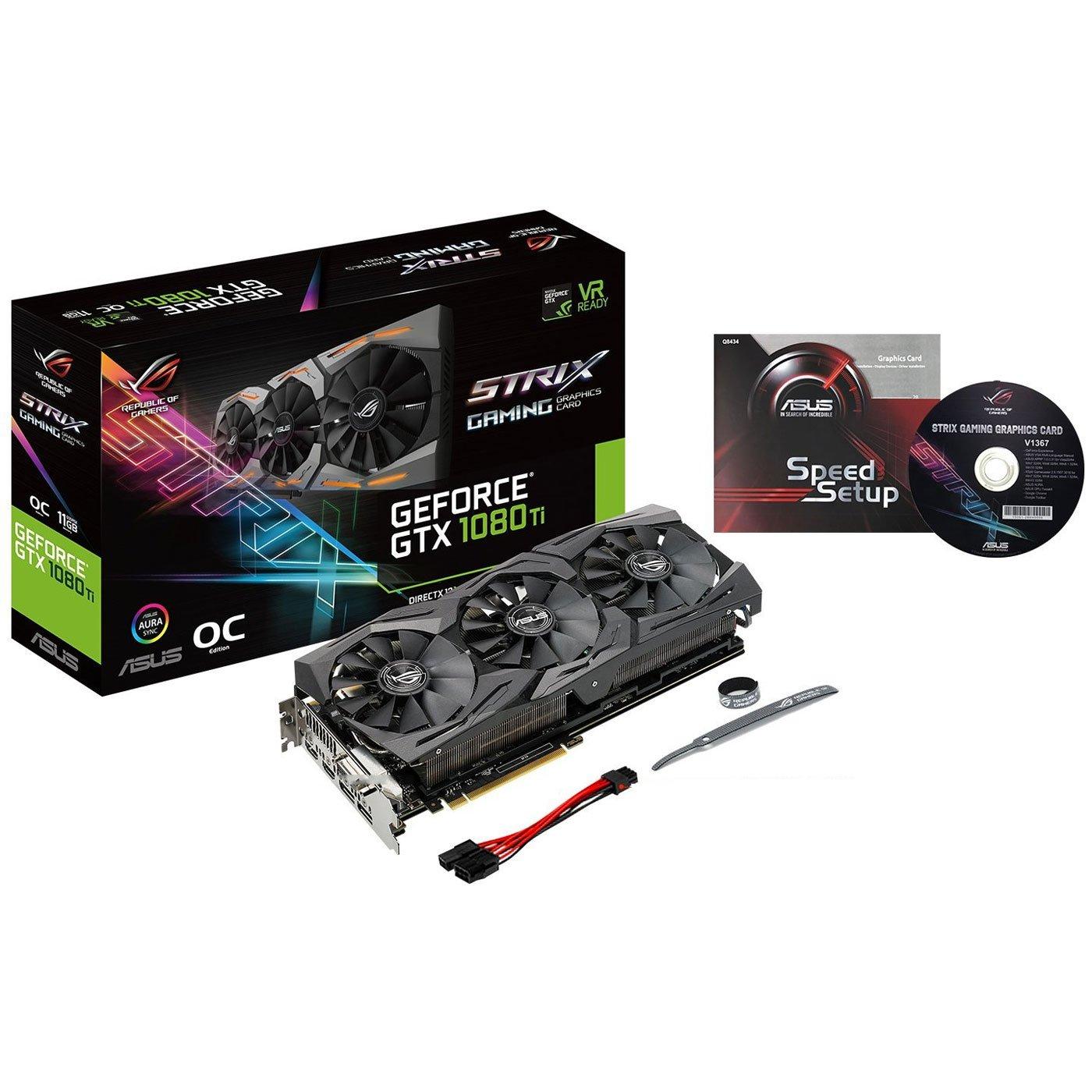 ASUS ROG-STRIX-GTX1080TI-O11G-GAMING GeForce 11GB OC Edition VR Ready 5K HD Gaming HDMI DisplayPort DVI Overclocked PC GDDR5X Graphics Card by Asus (Image #5)
