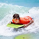 Goplus 41 inch Super Bodyboard Body Board EPS Core, IXPE Deck, HDPE Slick Bottom with Leash, Light Weight Perfect Surfing for Kids and Adults