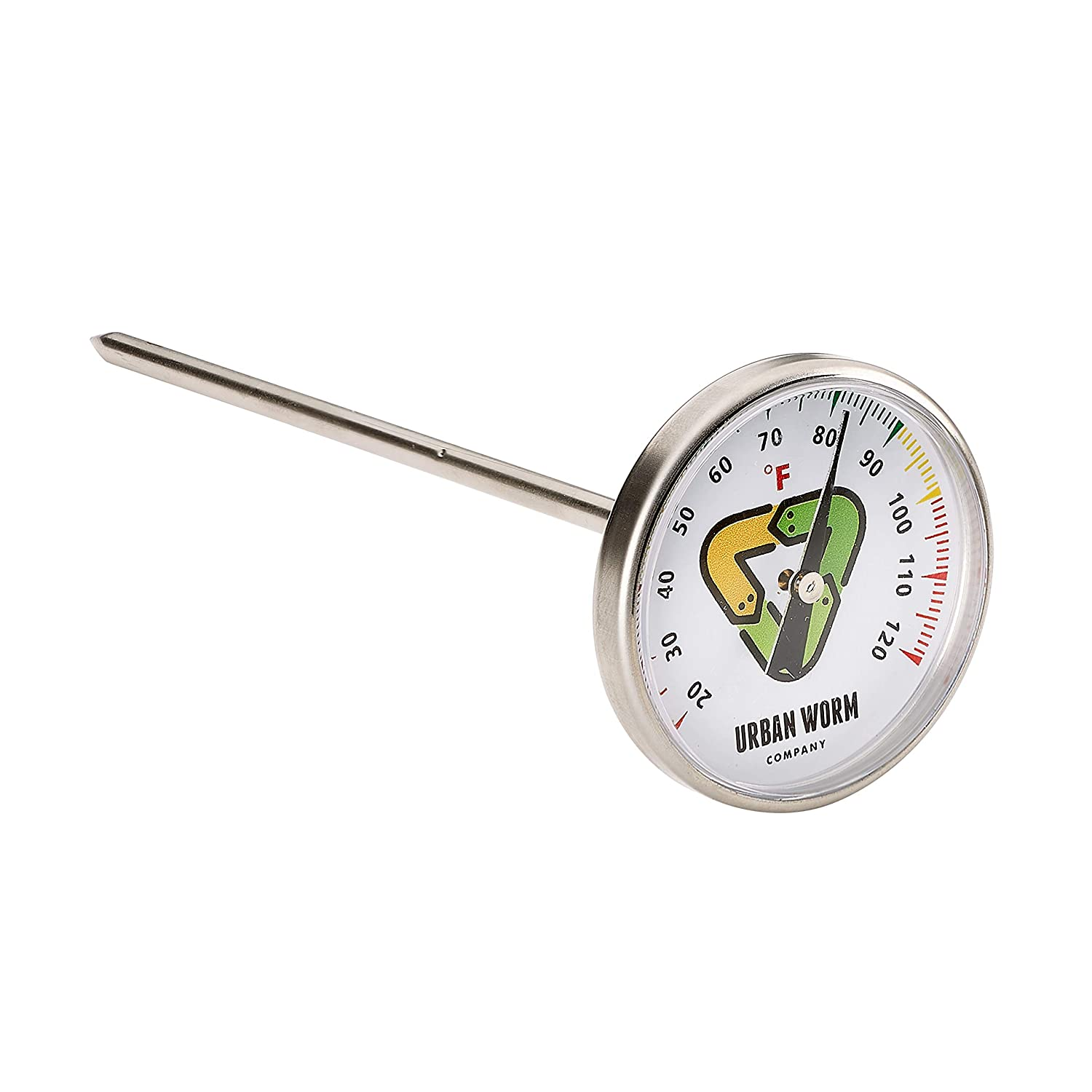Urban Worm Soil Thermometer - Keep Microbes and Worms Happy for Gardening and Worm Composting