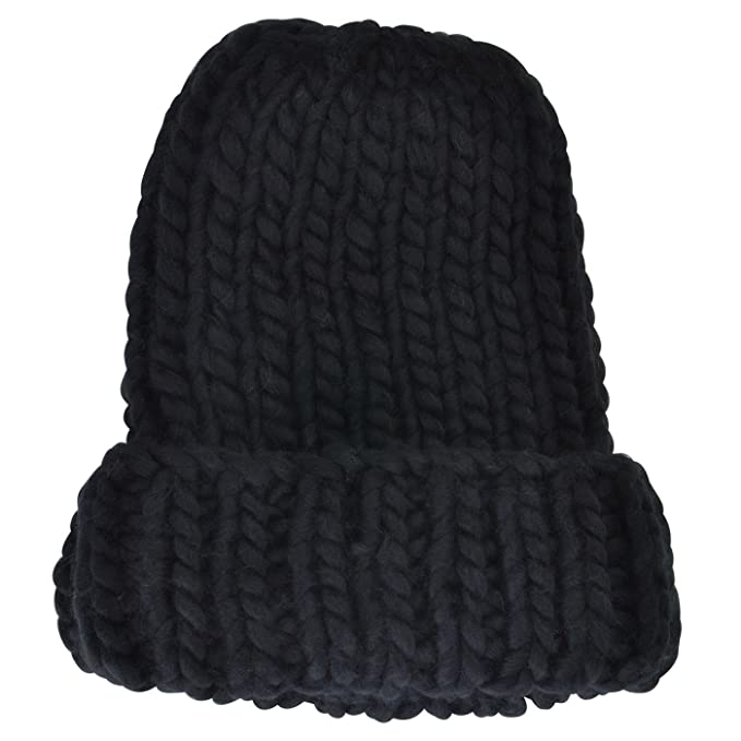 Amazon.com  Neon Eaters Oversized Knit Slouchy Beanie - Black ... f162dc630c5
