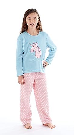 7771cfc67dc4 Girls Faye Unicorn Dreams Fleece Pyjamas with Over Print Pants 200GSM (13  Years