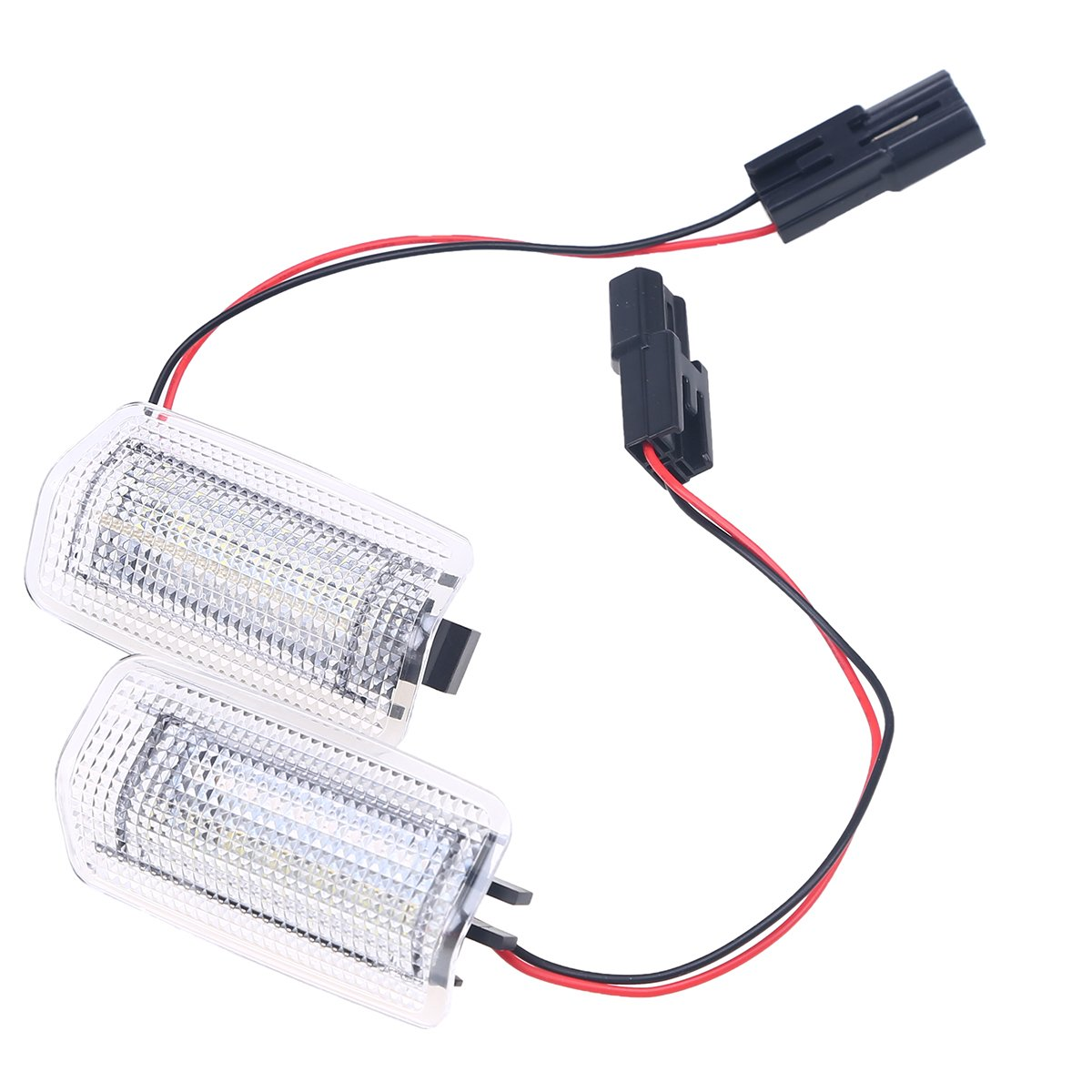 POSSBAY 2Pcs LED Car Auto Interior Door Courtesy Light Lamp for Toyota Error Free