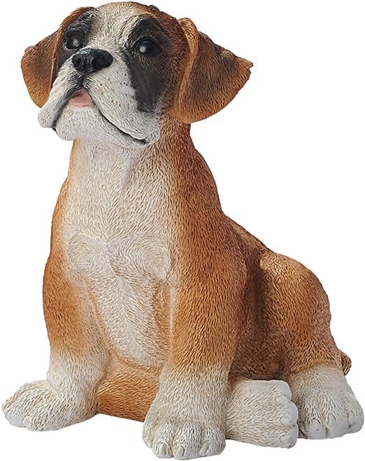 Multicolored Design Toscano Boxer Puppy Dog Statue