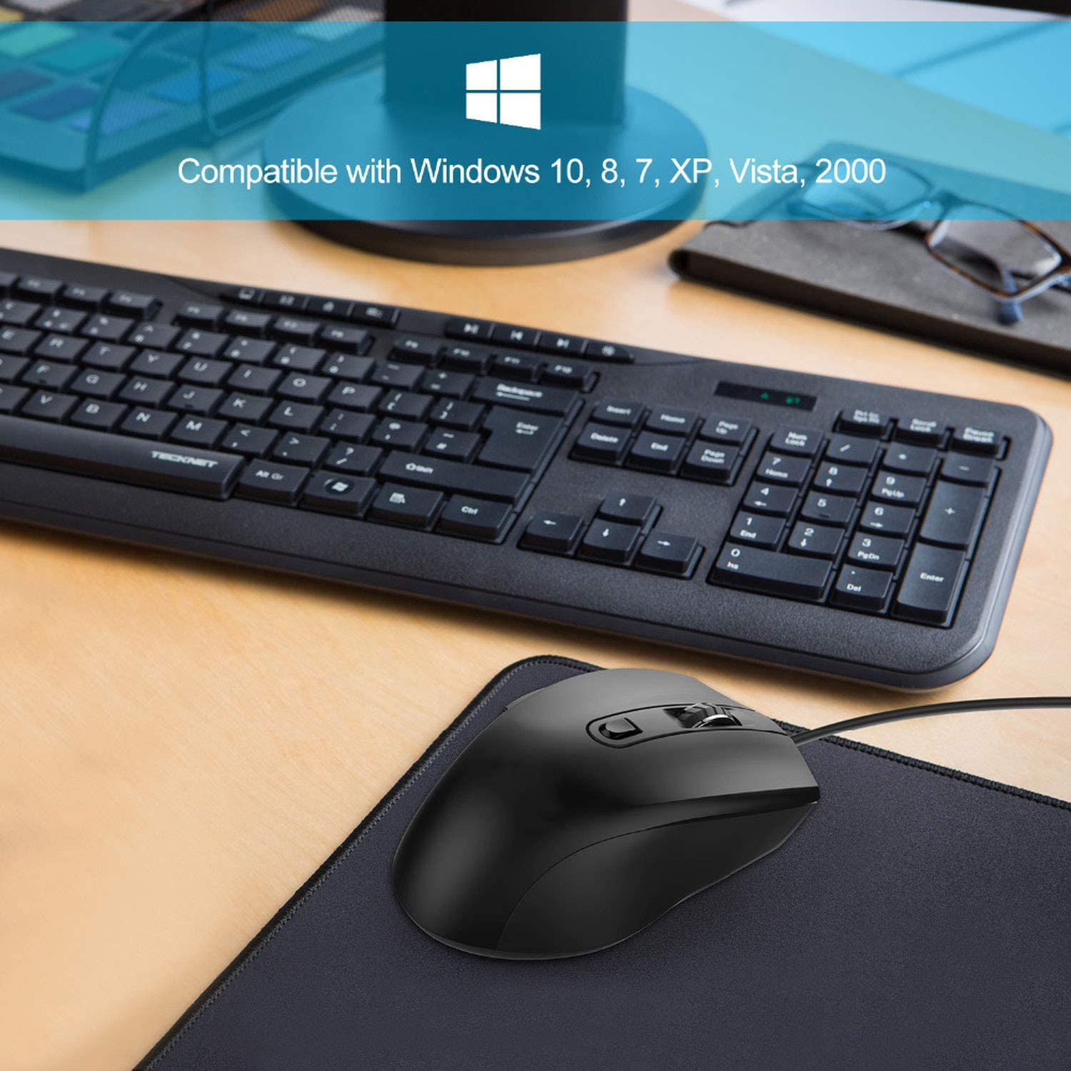 6 Button USB Wired Mouse Optical Office Business Gaming Mouse Mice for Windows XP//Vista//7//8//10 Mac and Linux,China