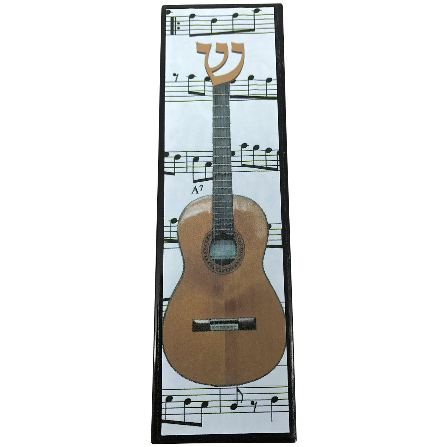 EASY MOUNT Glass Acoustic Guitar Mezuzah, GIFT BOX and Non-Kosher Scroll INCLUDED. Great Mezuzah for Bar or Bat Mitzvah Gift, Music Lover, Dorm Room