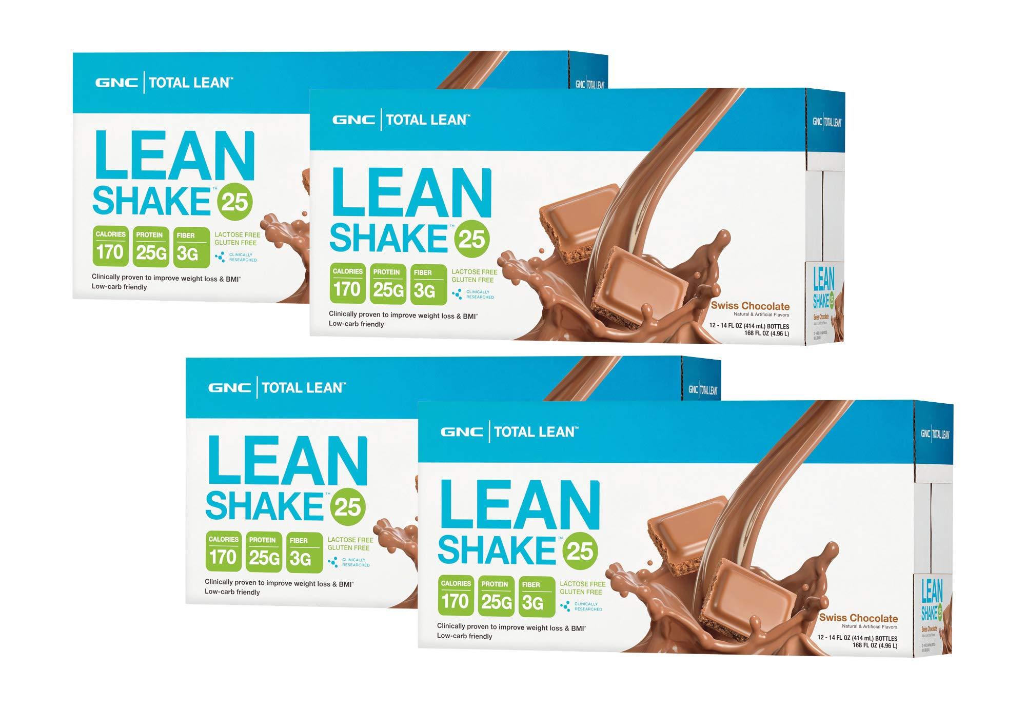 GNC Total Lean Lean Shake - Swiss Chocolate - 4 Pack