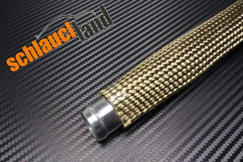 1 Meter Kevlar Titan Hitzeschutzschlauch ID 10mm *** Heat Sleeve Thermoschutz Isolierschlauch Kabelschutz