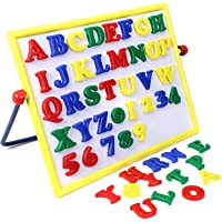 BKDT Marketing BKDT AlphaNumeric 2 in 1 Magnetic Board with Alphabets and Numbers with USB LED Light