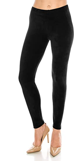 WOMENS LADIES VELOUR SOFT HIGH WAIST STRETCH LONG GIRLS VELVET LEGGINGS PANTS