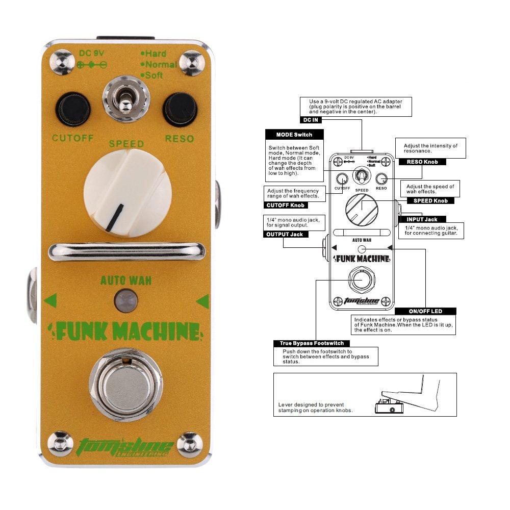 ammoon AROMA Guitarra Eléctrica Pedales Máquina Auto Wah Mini Solo Efecto con True Bypass: Amazon.es: Instrumentos musicales