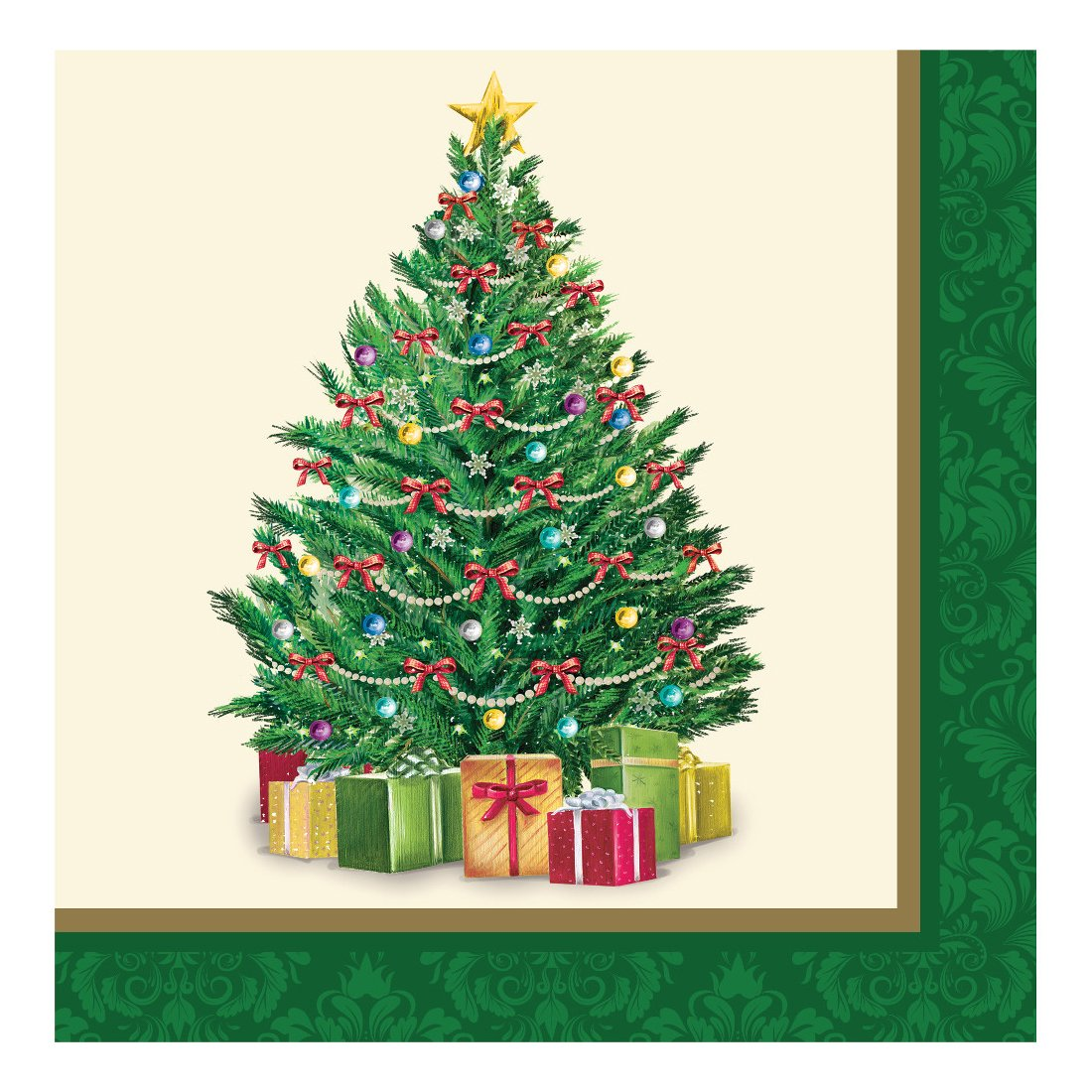 Amscan Classic Christmas Tree Luncheon Napkins, 16 Ct. Party Tableware foto