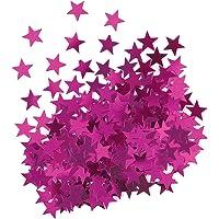 Unique Party- Confetti con forma de estrella, Color