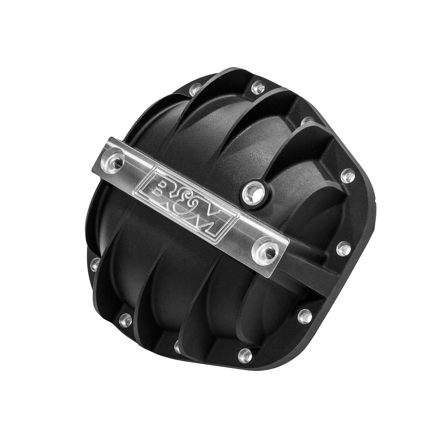 B&M 41299 Differential Cover For Use w/SterLing 10.25-10.5 in. Incl. Cover/Fill And Drain Plugs/Bolts/Washers/Load Bolts/Nuts Black Differential Cover