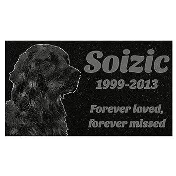 Dog Memorial Pet Headstone 8 X 4 X 1