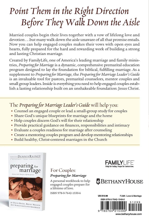 Preparing for Marriage Leader's Guide: Dennis Rainey: 9780764215490:  Amazon.com: Books