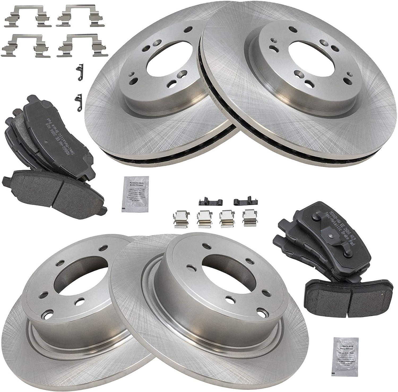 TRQ Front /& Rear Premium Posi Semi Metallic Disc Brake Pads for Chrysler