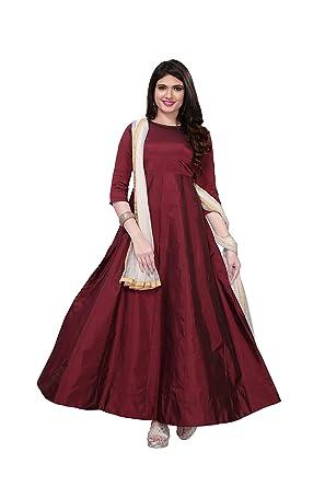 b3b047a0b2ac Royal Export Women s Taffeta Silk Party Wear Dress  Amazon.in  Clothing    Accessories