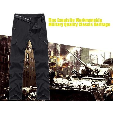 Ynport Crefreak Pantalón elástico con Forro Polar para Hombres Pantalones de Soldador a Prueba de Viento: Amazon.es: Deportes y aire libre