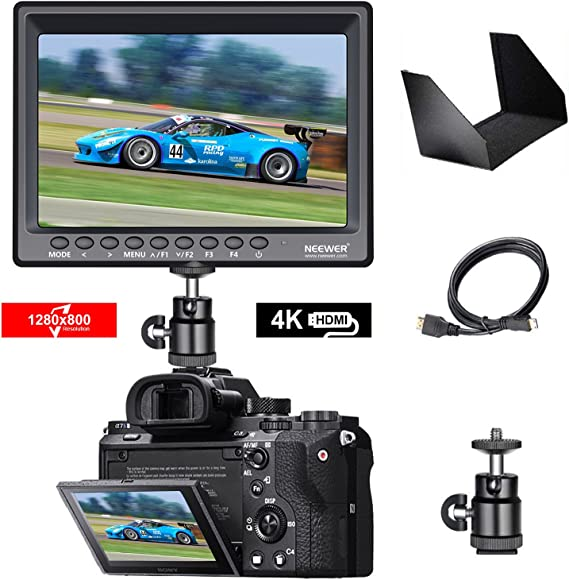 Neewer F100 7-inch 4k 1280x800 IPS Screen Camera Field Monitor with 1 Mini HDMI Cable for BMPCC