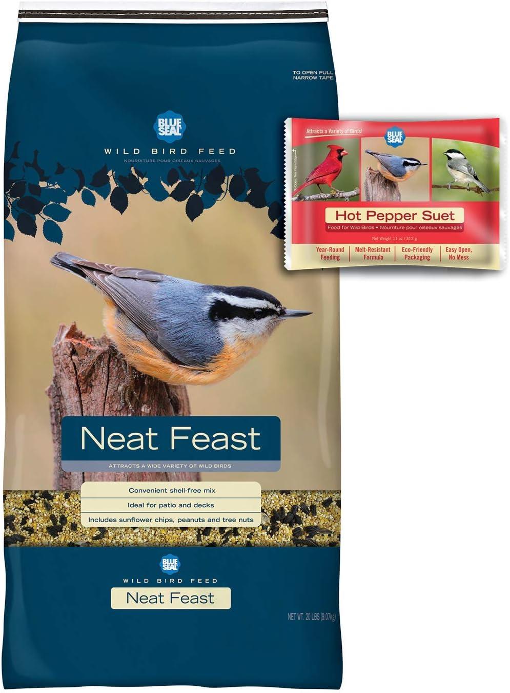BLUE SEAL Neat Feast Bird Seed & Hot Pepper Suet Cake Bundle