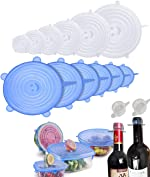 Silicone Stretch Lids(16 Pack),Airtight Silicone Bowl Covers For Food Storage and