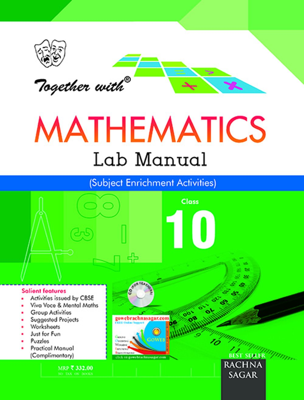 Together with Math Lab Manual - 10: Amazon.in: Rachna Sagar Private  Limited: Books