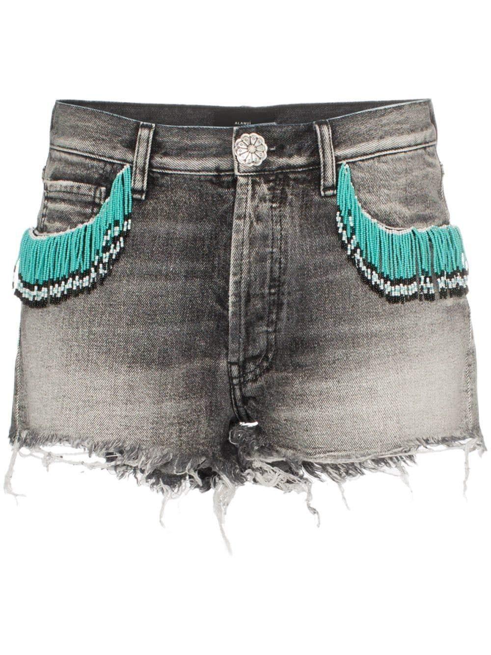 Alanui Women's LWYC001R190260219488 Black Cotton Shorts