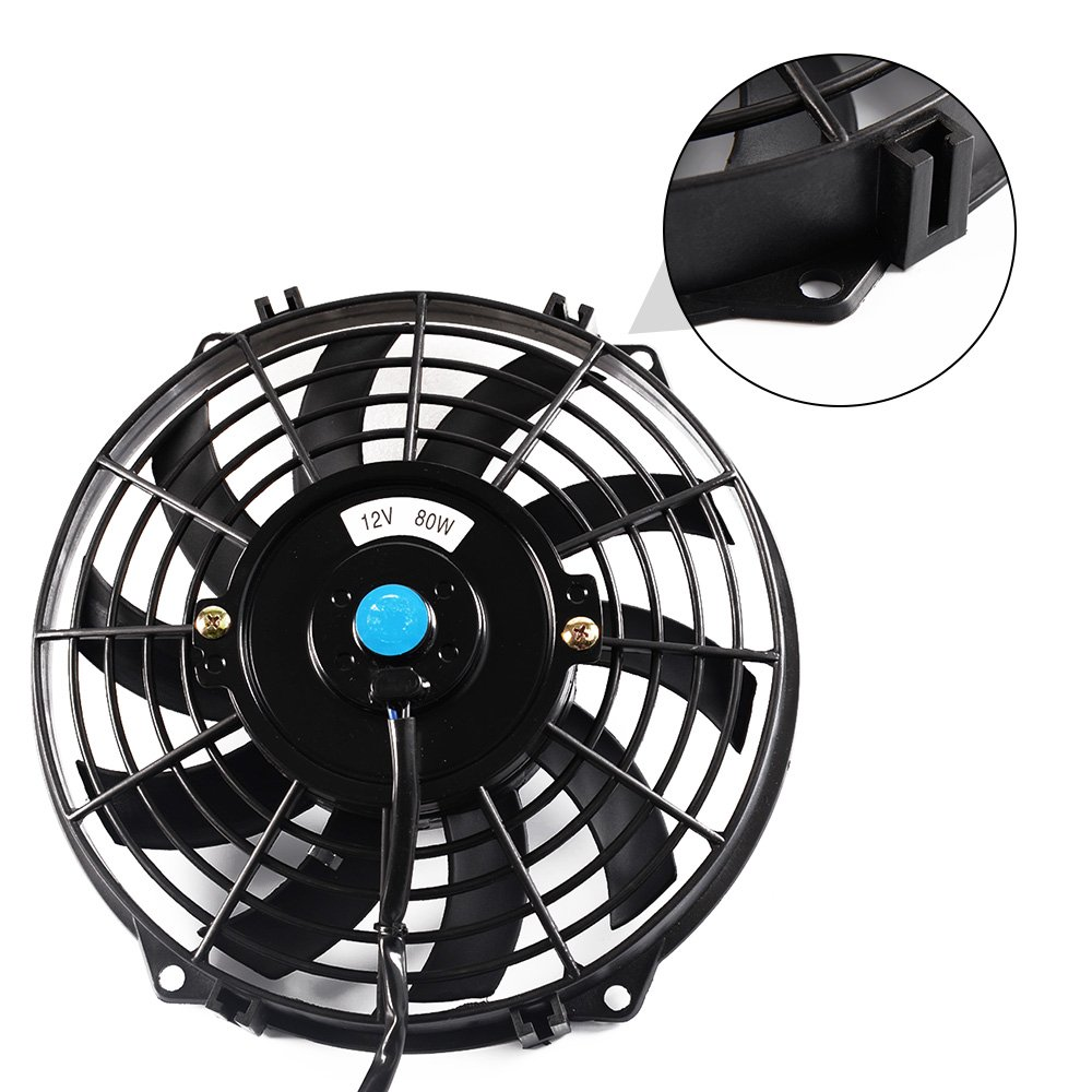 9 Universal Slim Pull Push Racing Electric Radiator Engine Oil Cooler Cooling Fan 9 Inch 12V