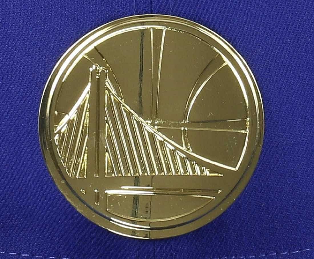 Blue Golden State Warriors Gold Metal Badge 59fifty Basecap New Era