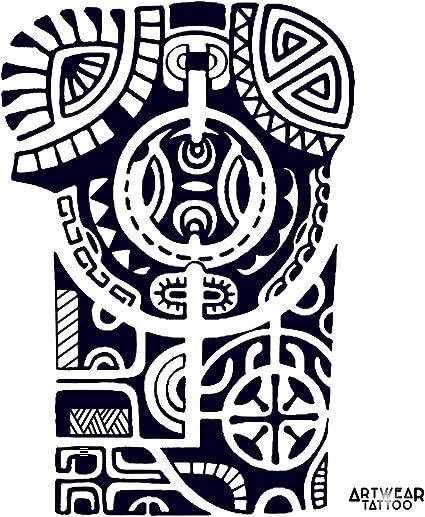 Tatuaje temporal realizado por un artista Maori Arm - ArtWear ...