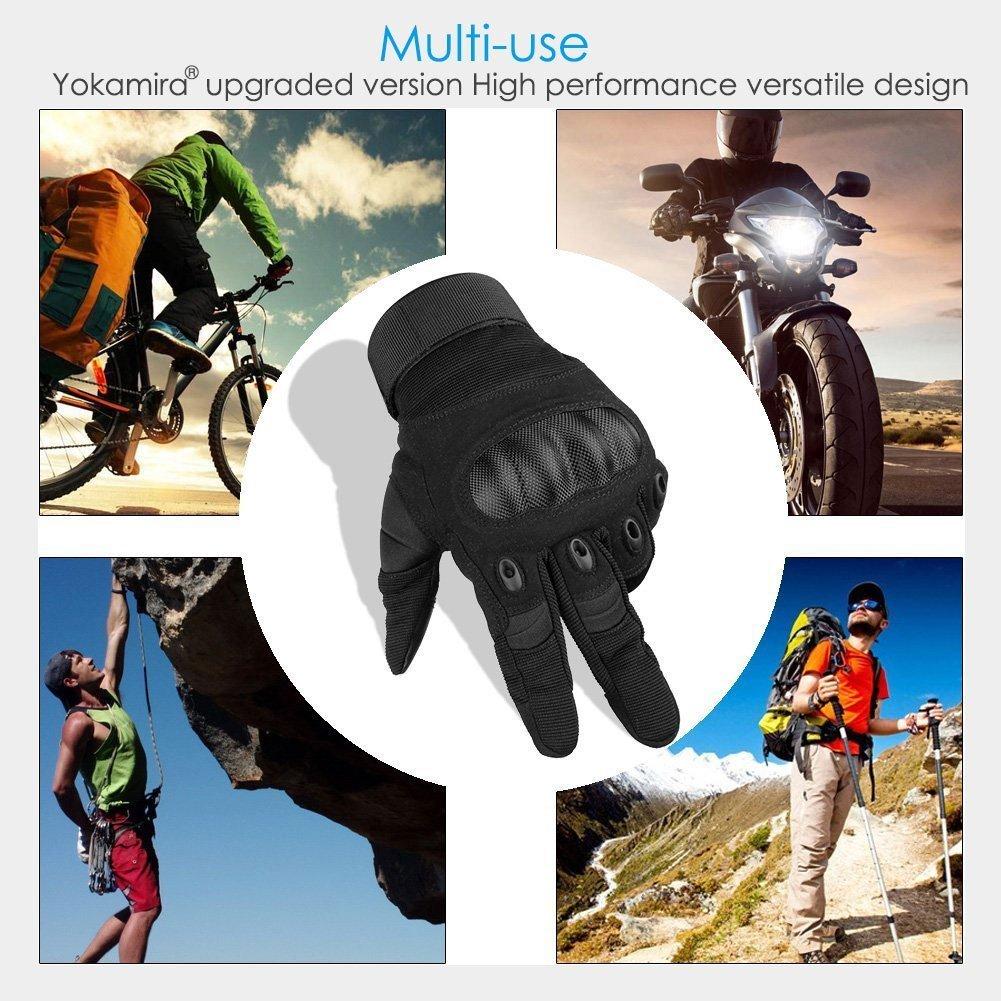 Yokamira Guantes Tácticos Militares Tactiles para Moto Motocross Ciclismo Bicicleta Bici Racing, Guantes Gym Fitness Running MTB Enduro Deporte - Hombre y ...