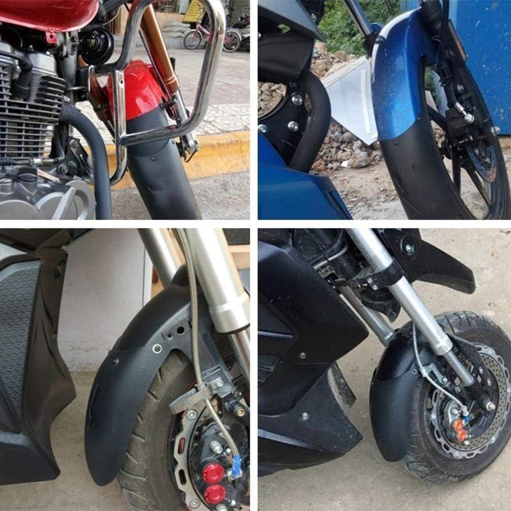Black Universal Motorcycle Front Rear Plastic Fender Extension Extender Black