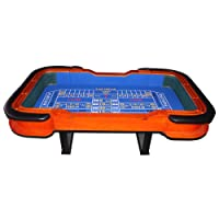 "93"" Craps Table with Diamond Rubber Blue"