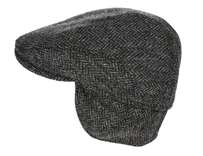 New Edwardian Style Men's Hats 1900-1920 John Hanly Men's Irish Flat Cap 100% Wool Tweed Ear Flap Made in Ireland $69.95 AT vintagedancer.com