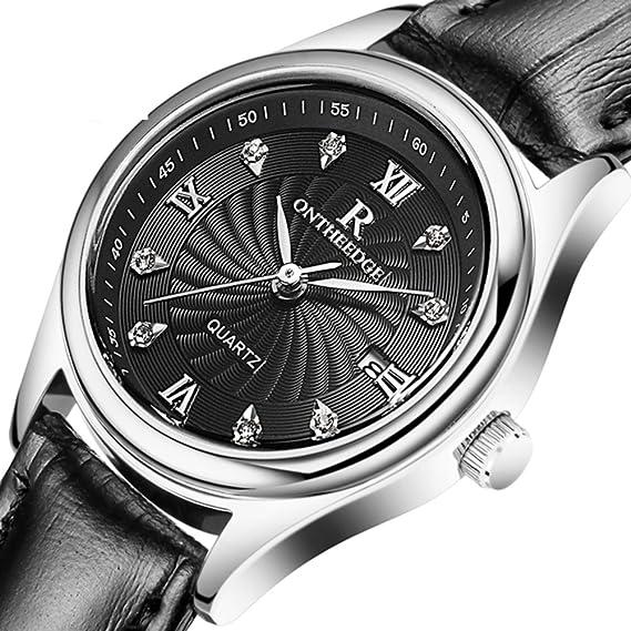 Ultrafino resistente al agua reloj/Relojes casuales/Pareja de hombres y mujeres relojes-N: Amazon.es: Relojes