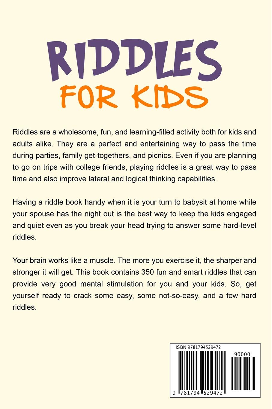 Riddles for kids: Brain teasers and trick questions for kids and
