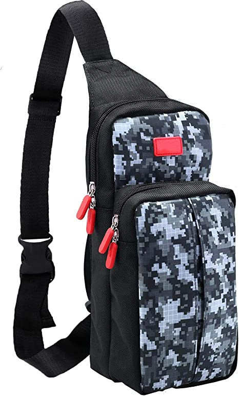 Kyrio Bolsa de viaje para Nintendo Switch Lite Mochila de almacenamiento de protección Bolsa de hombro Estuche de transporte Bolsa de hombro para Switch Lite Nintendo Switch Consola y accesorios, Rojo: Amazon.es: