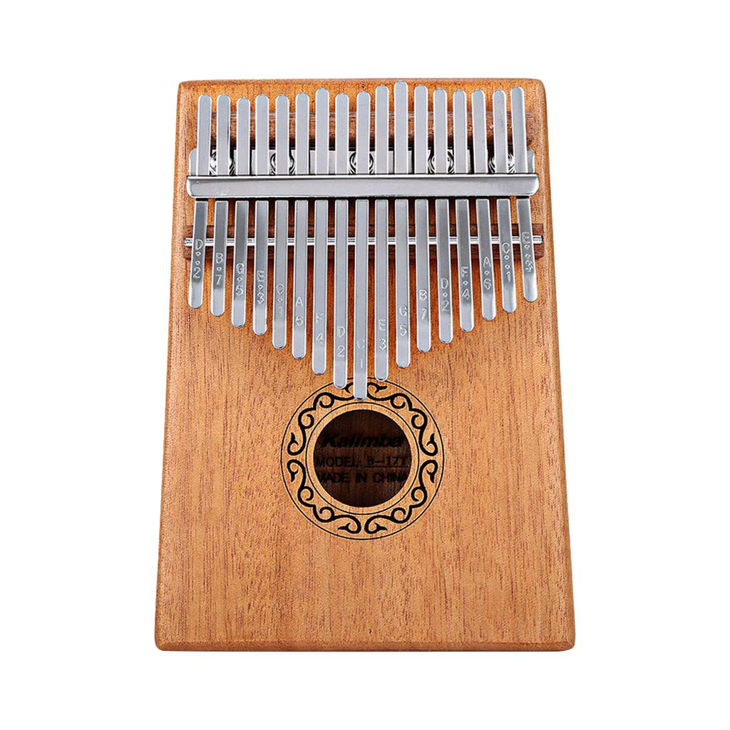 Magnetion Kalimba 17 Keys Thumb Piano builts-in EVA high-Performance Protective Box, Tuning Hammer and Study Instruction by Magnetion