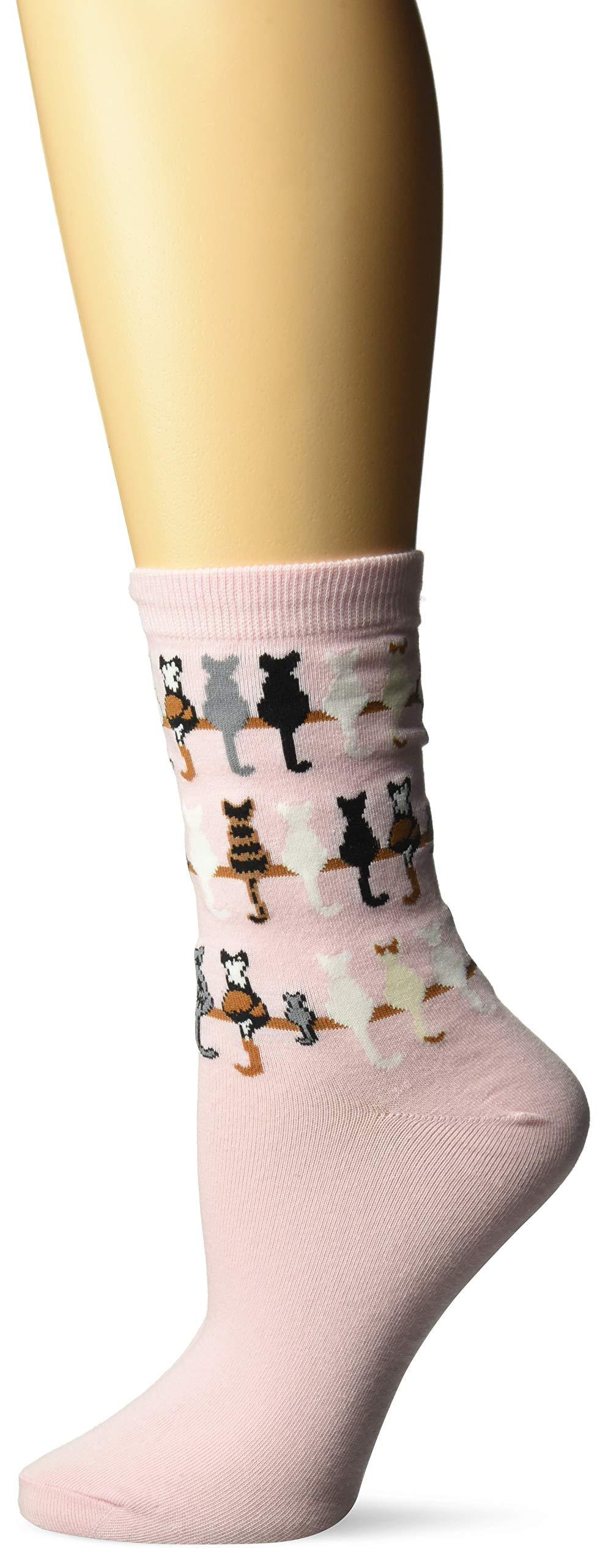 K. Bell Socks Women's Cool Cats Fun Novelty Casual Crew Socks