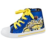 Boys Kids Offical Despicable Me Minions Wellies Wellington Boots Blue yellow Shoes Size UK 6-1
