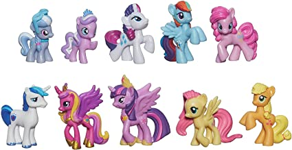 Amazon.com: My Little Pony Friendship is Magic Cutie Mark Magic Princess  Twilight Sparkle & Friends Mini Collection: Toys & Games