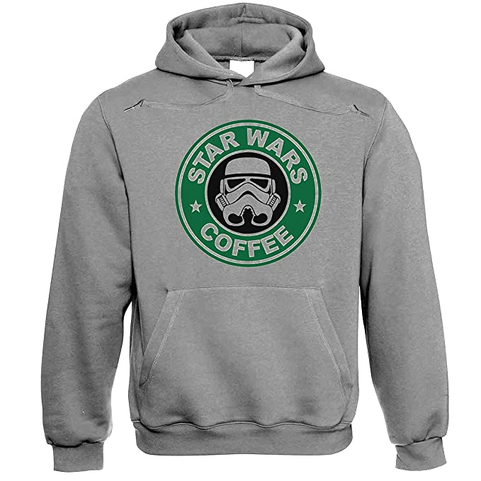 LUCKY Star Wars Coffee Stormtrooper Grey Sudadera con Capucha XXL: Amazon.es: Ropa y accesorios