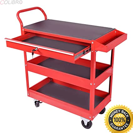 Ordinaire COLIBROX  Metal Rolling Tool Cart Storage Chest Box Wheels Storage Trays W/  Locking