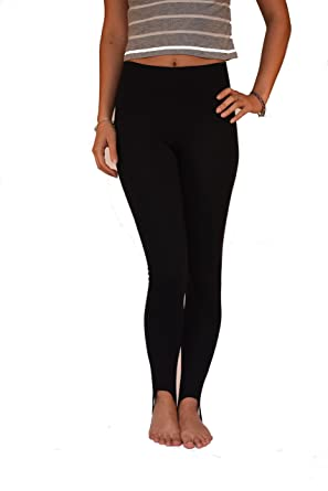 bf69bf00016b3f FULL Length HIGH RISE STIRRUP Leggings Cotton Elastane Sizes 10-28: Amazon. co.uk: Clothing